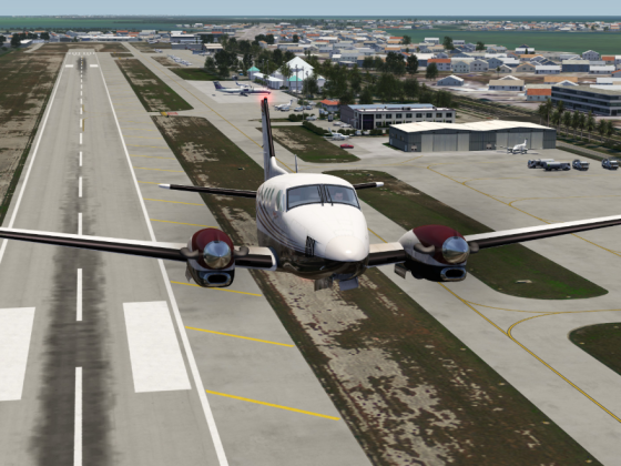 Takeoff at Marathon Airport