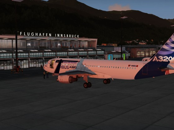 A320 Parked in Innsbruck to take your Vacation Full Flight