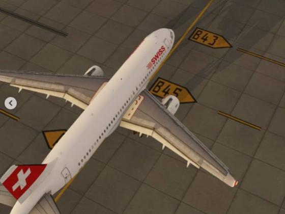 Taxiing to Terminal B, Gate 48