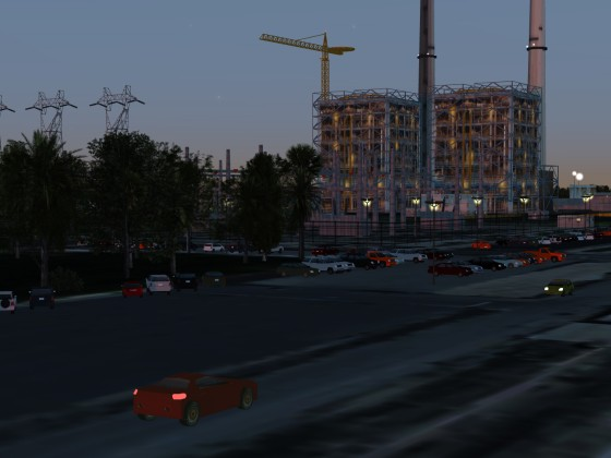 Evening at the Nuclear Plant