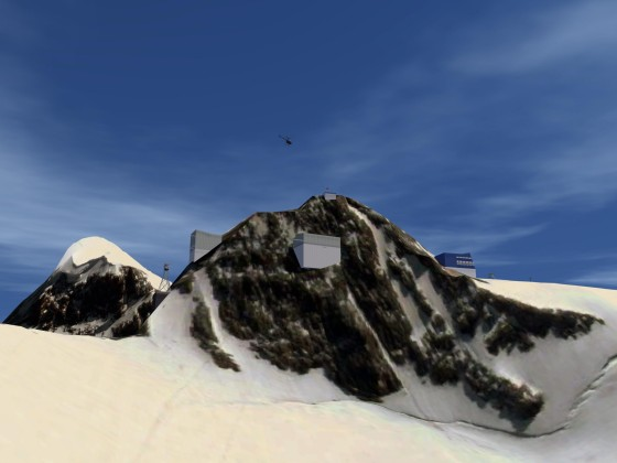 """Flying up to """"Klein Matterhorn"""" with the R22"""