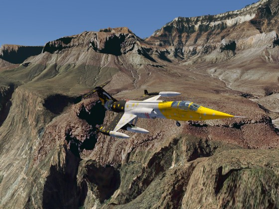 Starfighter in the Grand Canyon