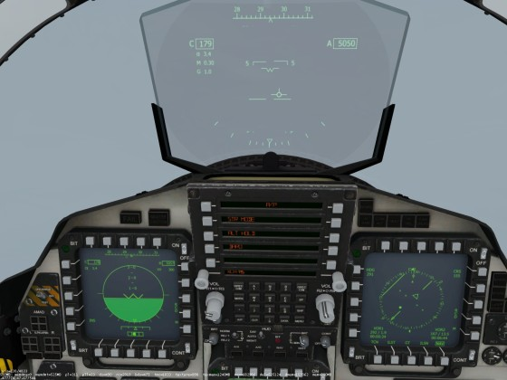 Landing the F-15 at foggy Zurich.  Inbound to the TRA VOR-DME north of the airport.