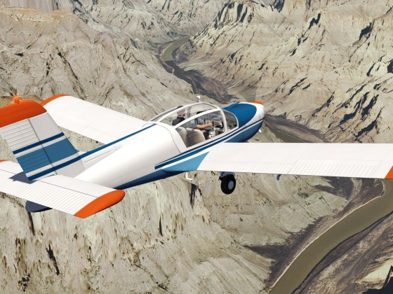 Socata over Grand Canyon