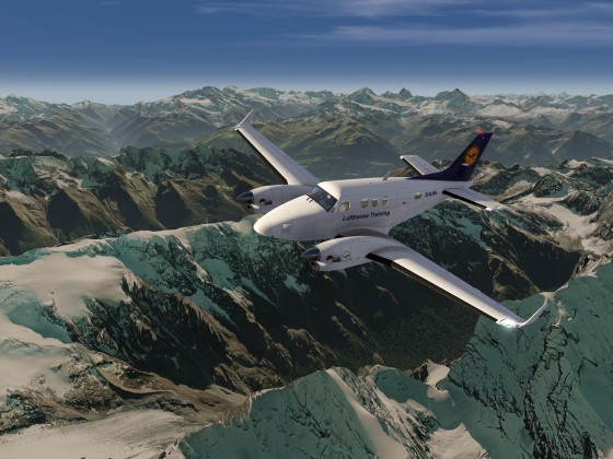 Lufthansa Training Flight over the Alps
