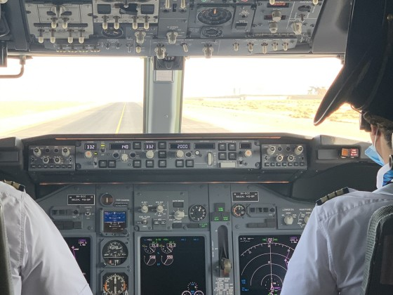 Clear for take off from OKBK international airport B737-900 ER BBJ KUWAIT GOVERNMENT