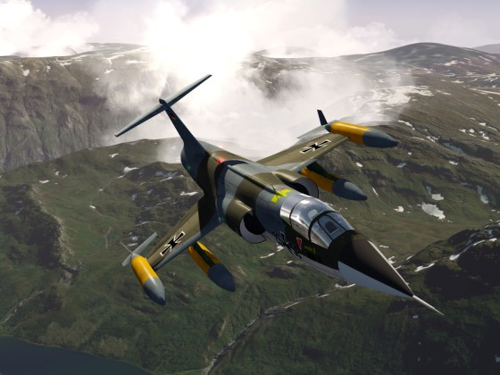 F104 over Norway