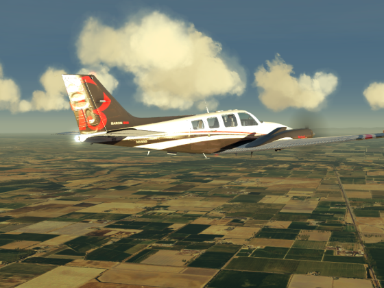Sacramento to Moffat field with Baron 58. farming