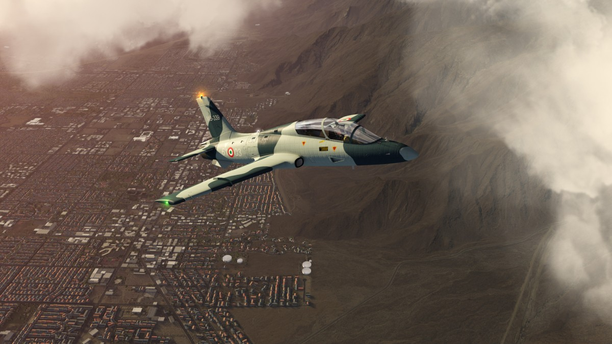 Fictional MB339 out of Palm Springs, California