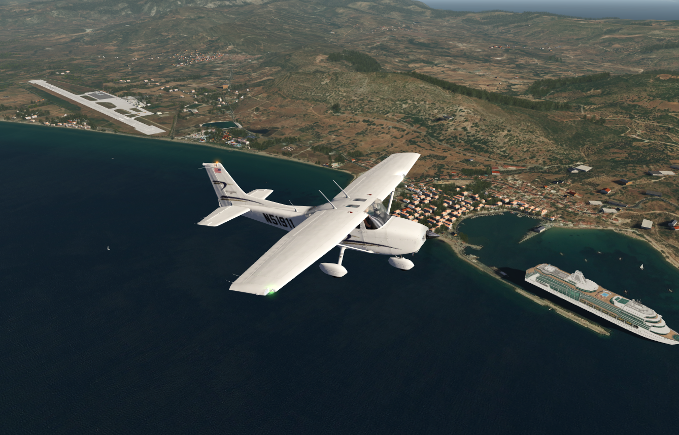 Flying over Samos