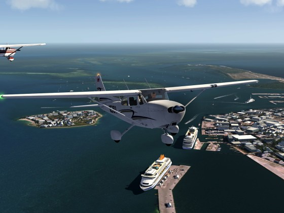 Near collision of 2 Cessna's above Key West