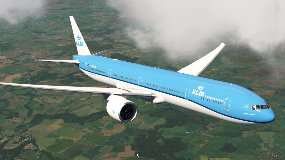 KLM 777 on the Ascent