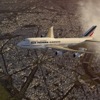 Air France Cargo over Paris