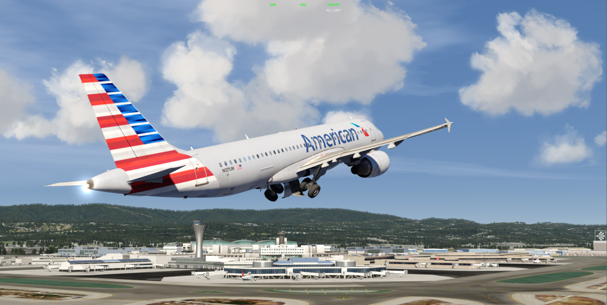 New American Airlines livery for the A320