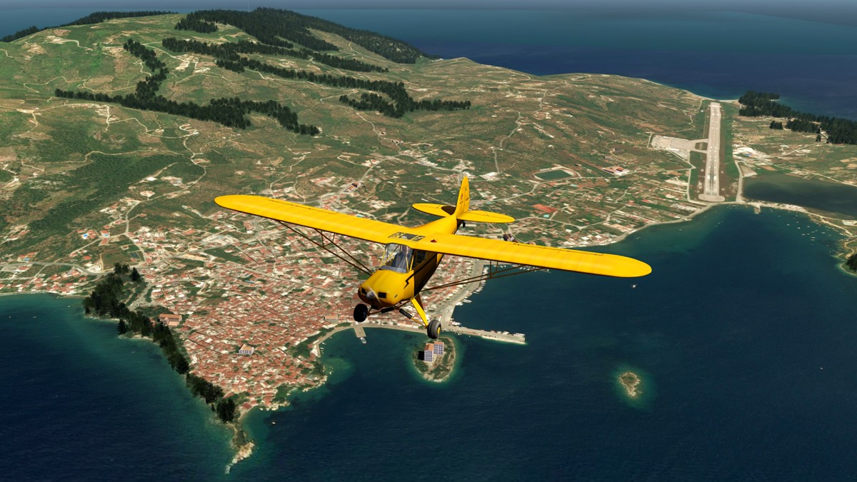 Skiathos Island-Greece+Piper Cub