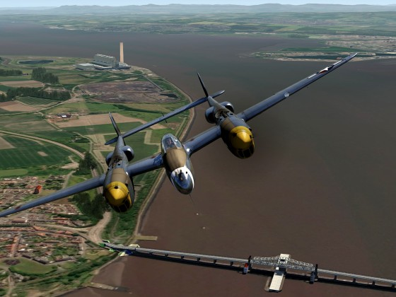 Scotland-objects+P-38 Lightning