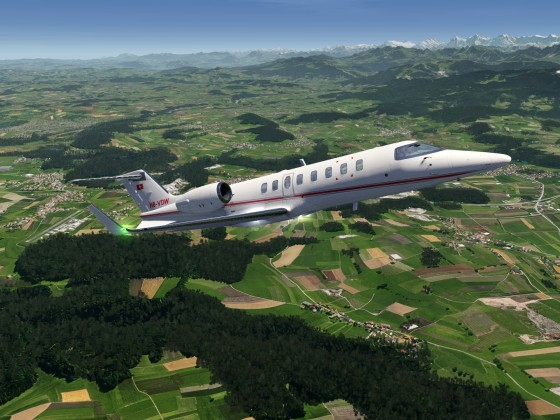 New SWISS livery for Lear 45XR created by ChaseTheChurro