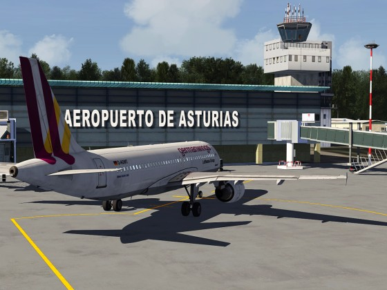 Asturias airport-NthWest Spain+A320 Germanwings