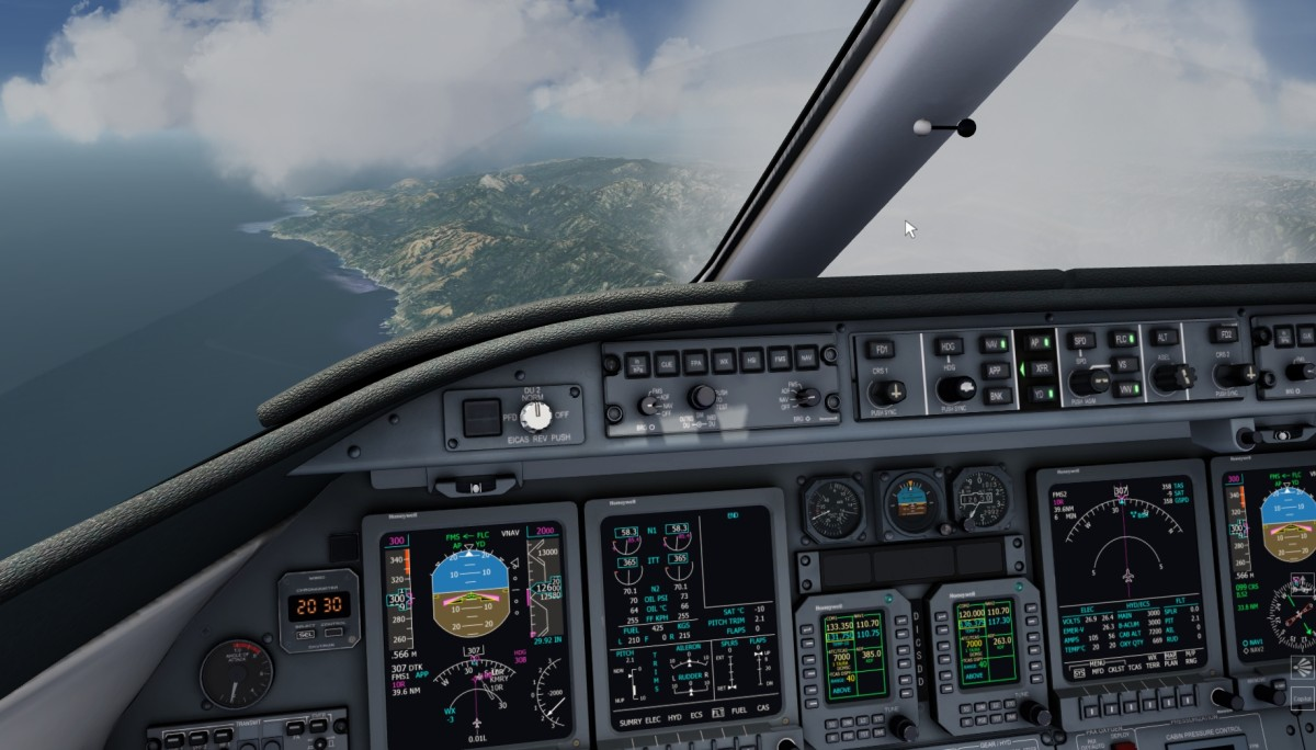 Racing to the destination in the Learjet 45