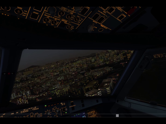 Landing at night Kia Tak watch the video below