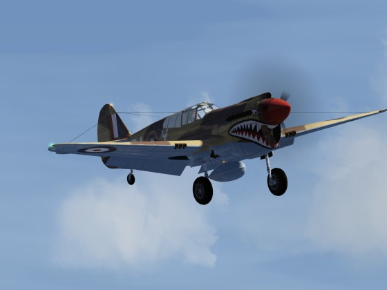 P40E Wheels down flypast