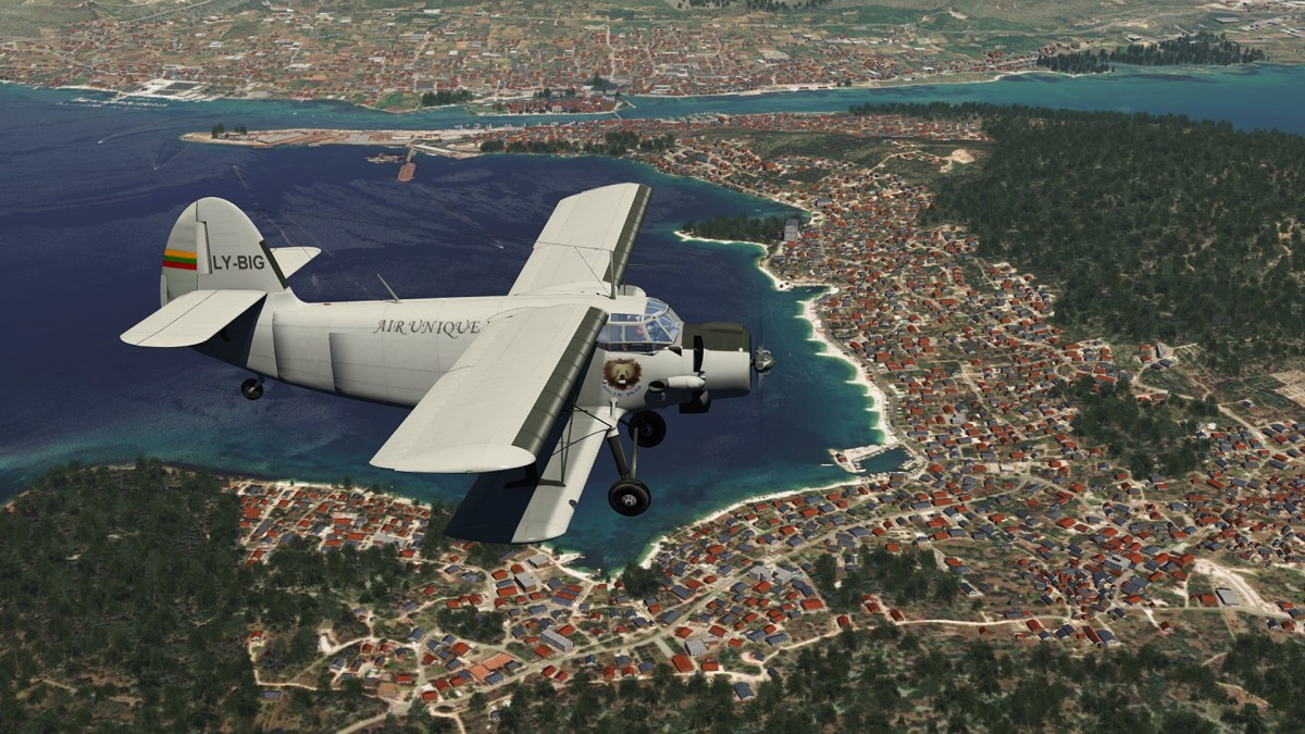 Trogir near Split-Croatia+Antonov AN2