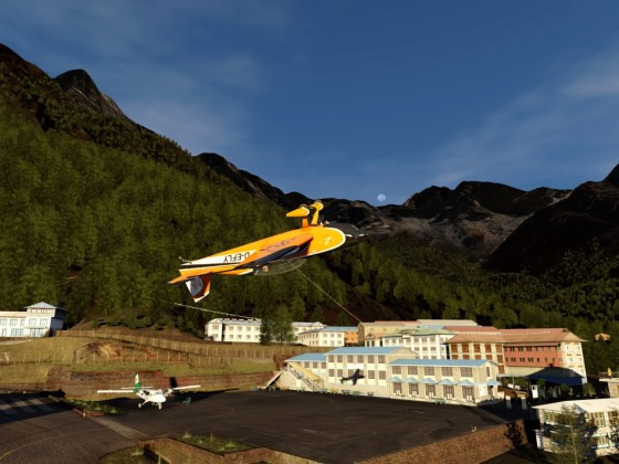 Aerobatics in Lukla!