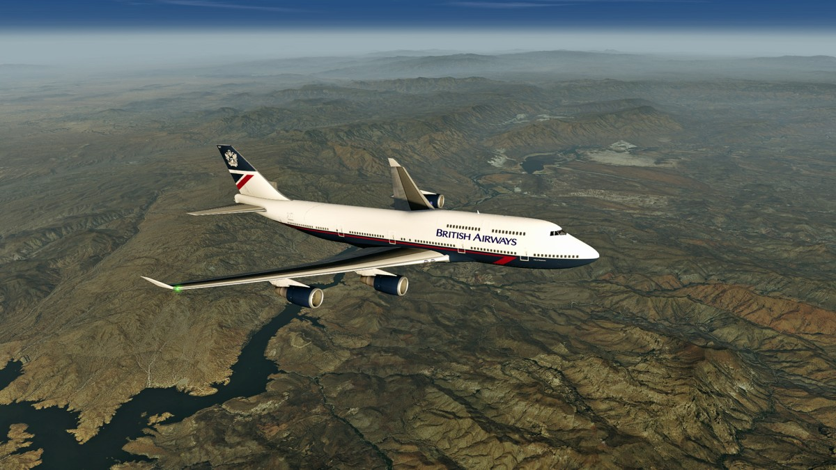 British Airways 747-400 in Landor Heritage Livery  Return Flight from  Phoenix