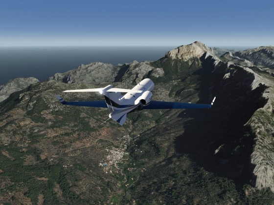 Flying the west coast of Mallorca