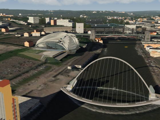 Futuristic Bridges in Newcastle