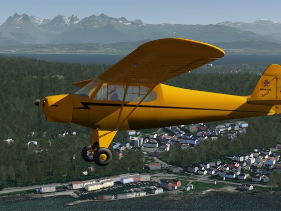 About 1 Mi East from Bodo airport-ENBO in Piper Cub
