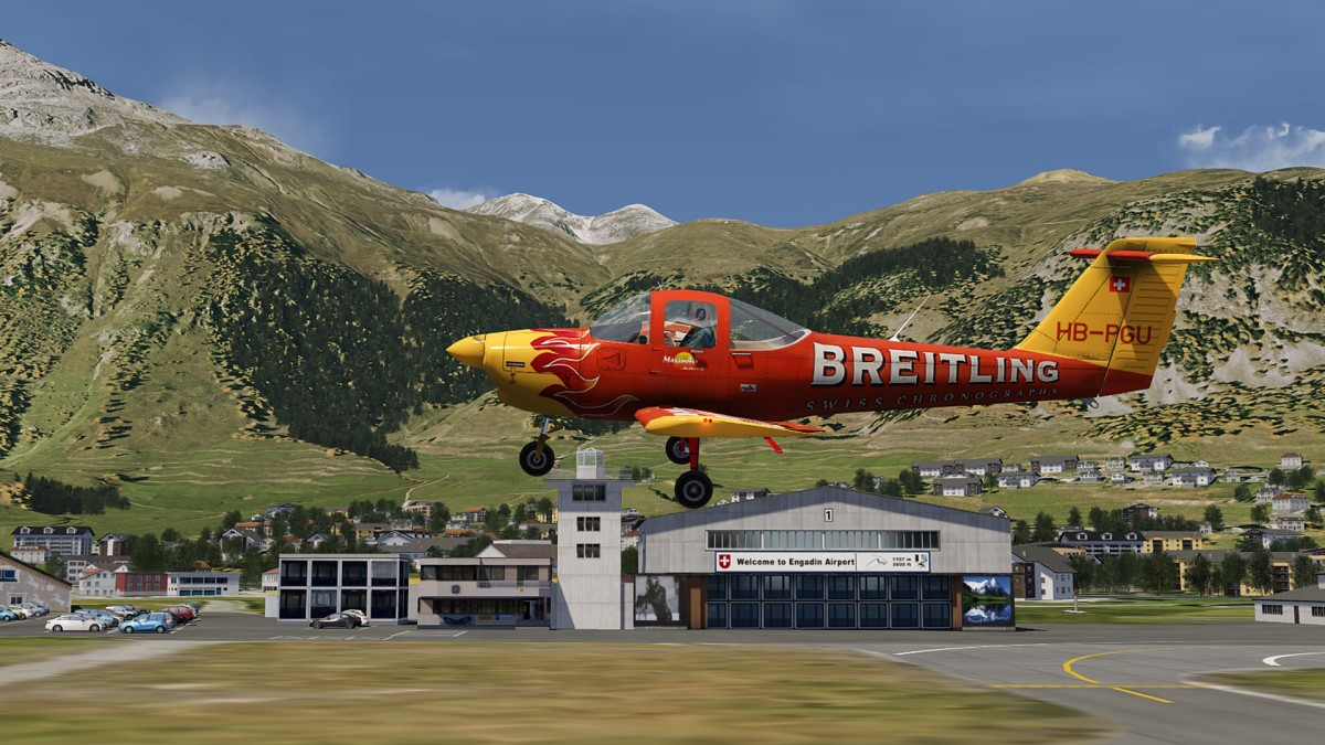 PA-38 Tomahawk at Samedan airport