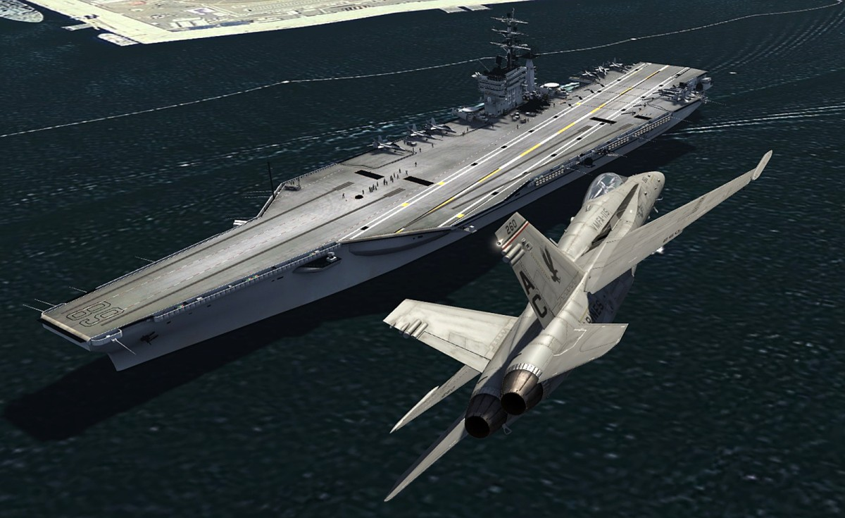 Aircraftcarrier at San diego-CA-US+F18
