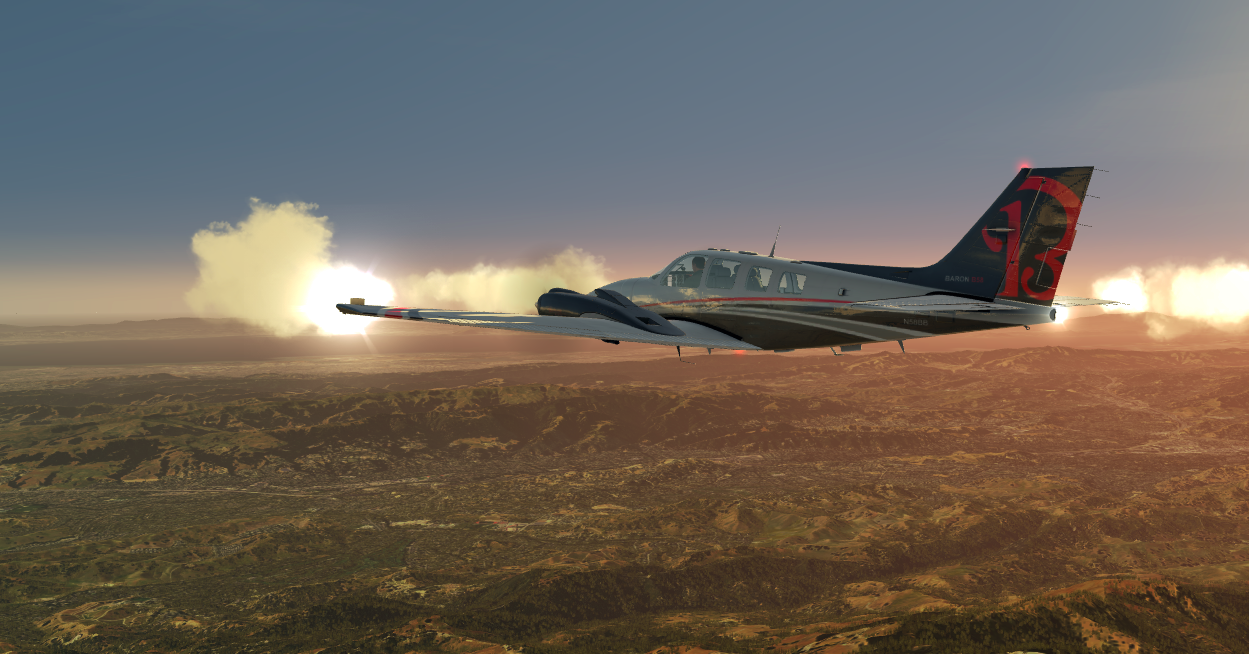 Sacramento to Moffat field with Baron 58. Over The Mountains