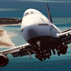 747 is able to land and take off at this caribbean island