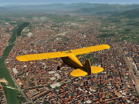 Piper Cub over Firenze - Italy