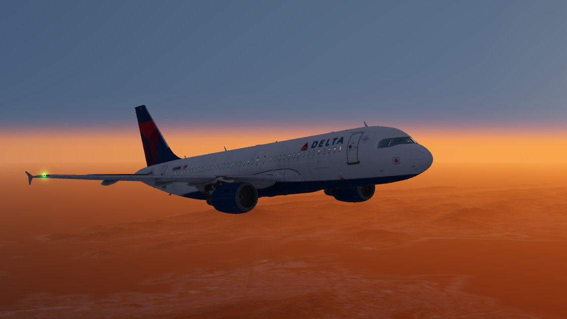 Lovely sun set flight over the san Francisco mountains