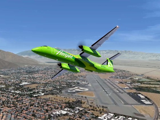 Dash 8-400 Palm Springs to Monterey Regional
