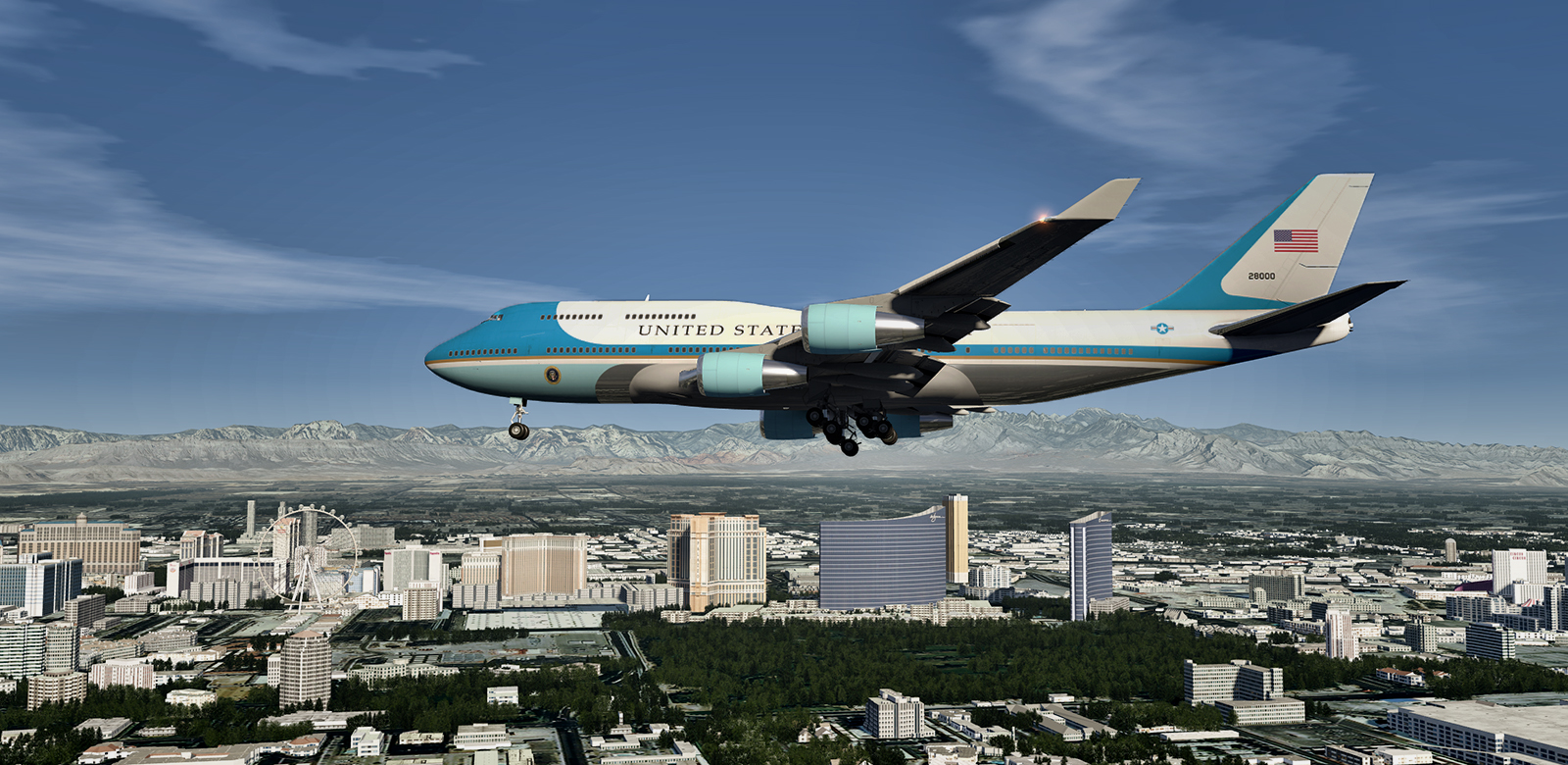 Air Force One landing at KLAS