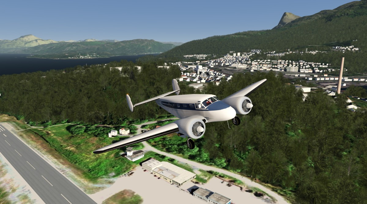 Beachcraft C18S Takeoff from Narvik