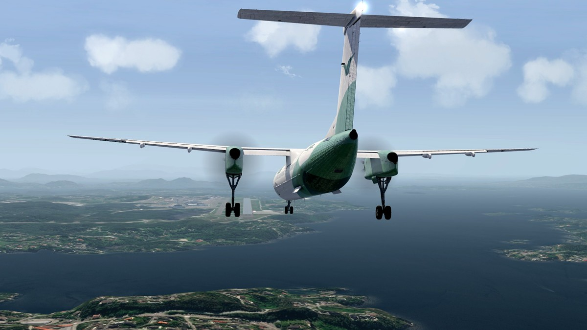 Approach to Bergen airport-ENBR
