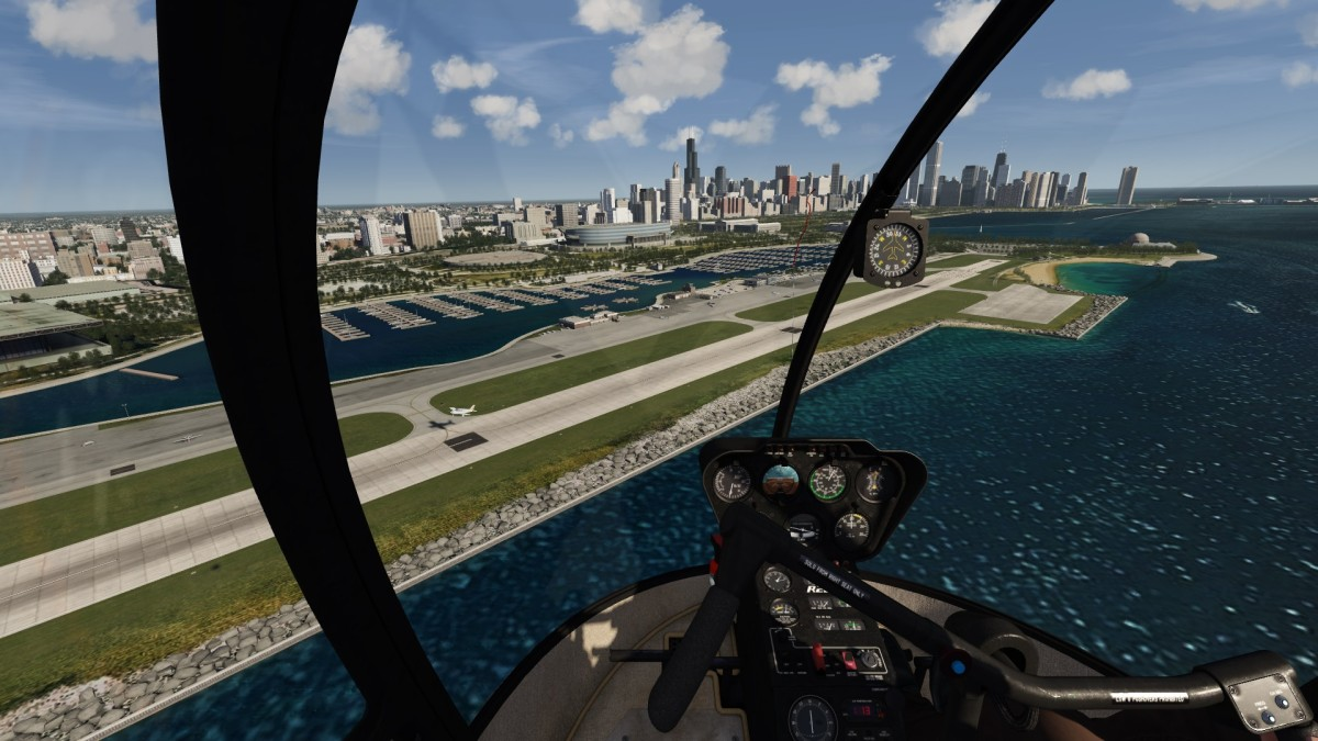 Chicago with animated traffic