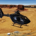Ec135 at Monument Valley