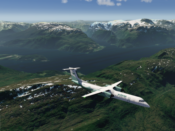 Q400 over Norway
