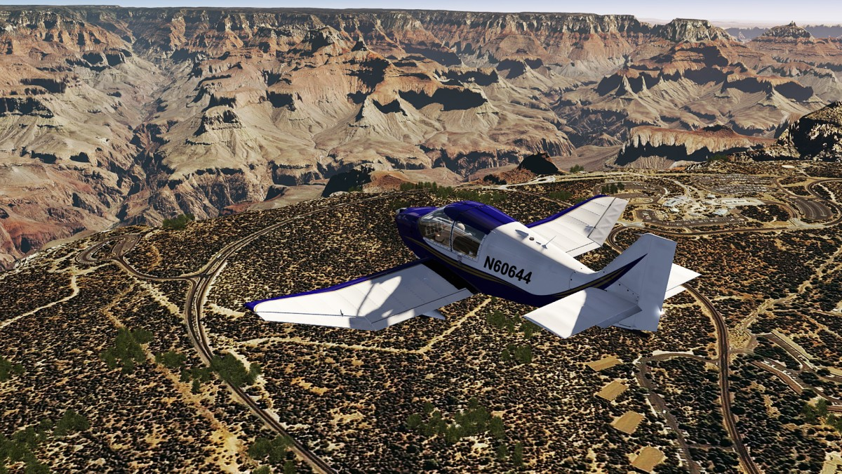 Over Visitor Center SthRim Grand Canyon