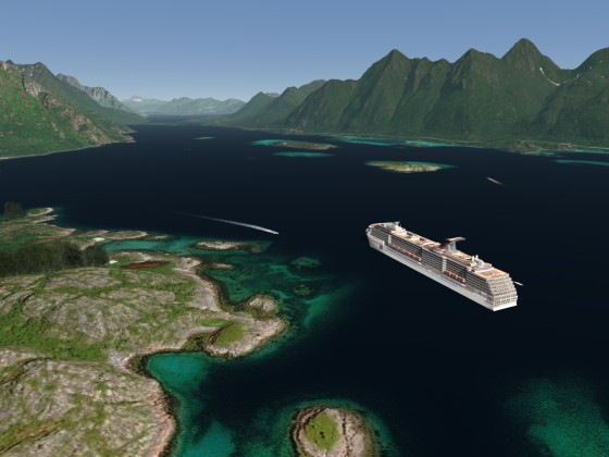 Cruise Ships in the Lofoten