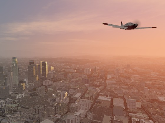 Arrow iii over Los Angeles