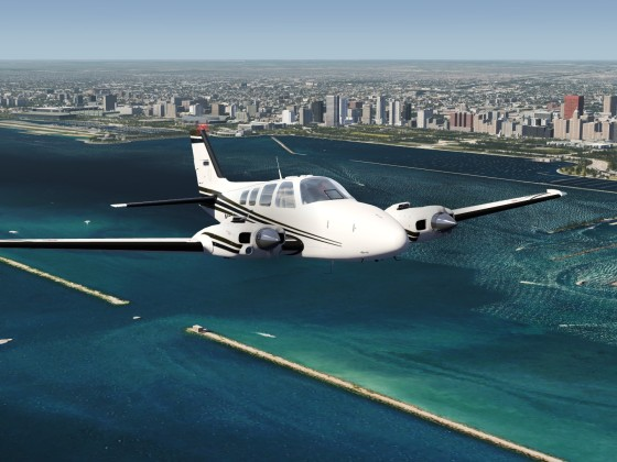 Baron 58 ORBX Meigs Field Chicago