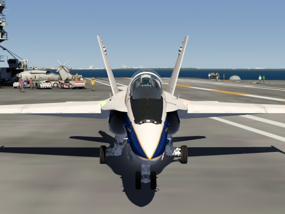 F18 -Ready to start from the USS Hornet