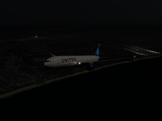 Leaving KLAX under moonlight